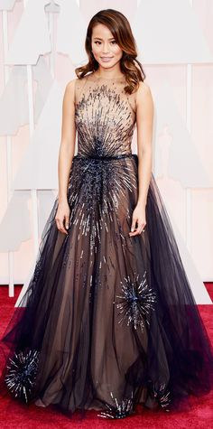 Academy Awards 2015 Red Carpet Arrivals - Jamie Chung from InStyle.com