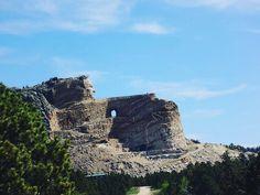 Crazy horse memorial #travel #mountain #bluesky