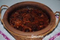 Alcatra de feijão branco um sabor da minha terra: Quando falamos dealcatra aqui nos Açores,referimosa um alguidar de barro (não vidrado que é feito à mão numa olaria cá na ...