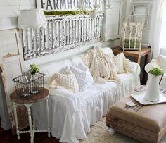 Nice SlipCover   Ruffled Slipcover   Sofa Cover   Sofa Scarf   Slip Cover   Couch  Cover   Farmhouse Decor   Shabby Chic Sofa   Cottage