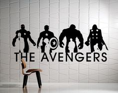 A personal favorite from my Etsy shop https://www.etsy.com/listing/215632054/the-avengers-wall-mural-ironman-captain