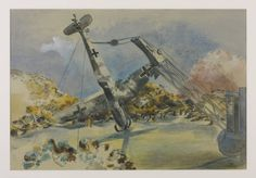 Paul Nash 1889–1946 The Messerschmidt in Windsor Great Park 1940 Pastel, graphite and watercolour on paper