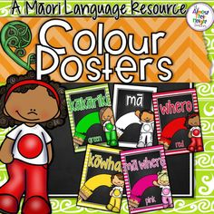 Colour Posters for the New Zealand Classroom - these colour posters come in two formats Te Reo Maori and Te Reo Maori which English translation. There are a few options for some of the colour words included. Just choose which ones suit your classroom the best.
