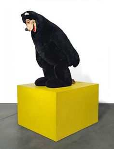 Paul McCarthy, Bear Sculpture. Mascot head, acrylic fur and metal armature, foam rubber on painted wooden plinth, overall: 86 1/6 x 42 7/8 x 51 /8 in. Executed in 1992. Estimate: £550,000-750,000. Photo: Christie's Images Ltd 2012.