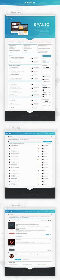 Web interface template for forum on Behance web design UI responsive IPS Xenforo