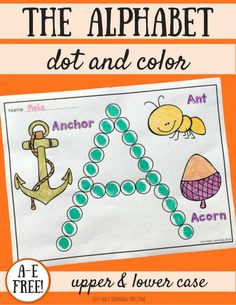 The Alphabet Dot and Color: A-E Free!   Liz's Early Learning Spot
