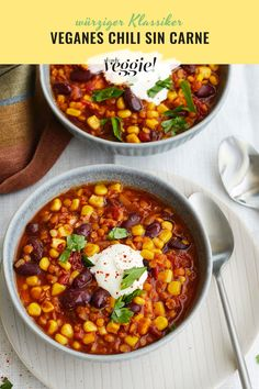 Healthy Eating Recipes, Veggie Recipes, Vegetarian Chili, Vegetarian Recipes, Easy Cooking, Cooking Recipes, Low Calorie Vegan, Food Inspiration, Food And Drink