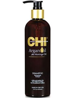 Chi Argan Oil Shampoo. I use this shampoo and it REALLY does help keep my hair healthy and shine. Love this stuff!!