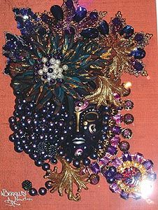 Deep purple, one of the masks on display at Wayne Berkeley, Trinidad