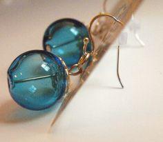 My Abby blown glass earrings on Etsy