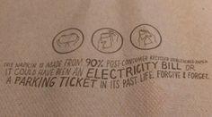 Chipotle restaurant napkin