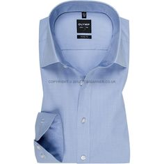 Olymp - New for Autumn 2014 - Olymp Light Blue Thin Check Shirt - Level Five Body Fit