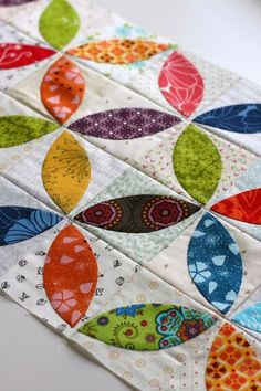 The sew along is over but this is really fun! A Little Bit Biased: Orange Peel Mini Quilt and a Quilt Along!