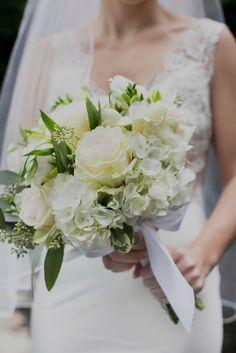 white rose and hydrangea bouquet // photo by Christina Szczupak