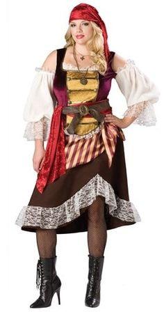 Plus size pirates halloween costume with loads of fab detail! #halloweencostumes #plussizecostumes #piratecostumes