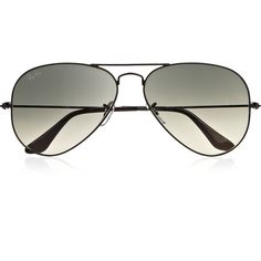 Ray-Ban Aviator metal sunglasses ($185) ❤ liked on Polyvore featuring accessories, eyewear, sunglasses, glasses, oculos, acessorios, metal glasses, lens glasses, ray ban aviator and ray ban sunglasses