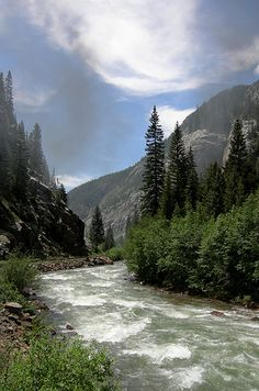 Animas River, as seen from the Durango-Silverton narrow gauge steam train, southwest Colorado