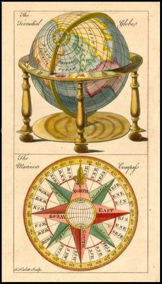 The Terrestial Globe [and] The Mariner's Compass - Barry Lawrence Ruderman Antique Maps Inc.