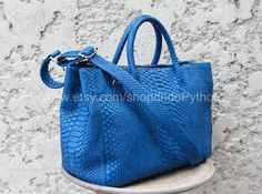 Genuine Python Handbag Exotic Snakeskin Leather bag by IndoPython, $310.00