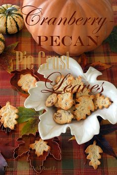 Cranberry Pecan Pie Crust Leaves are a cute addition to your Thanksgiving dessert table. They are extra delicious made with Diamond Pecans!