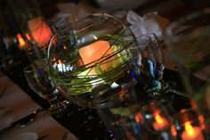 Brown and green wedding  reception table decor