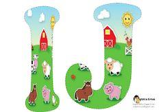 Alfabeto de la Granja. | Oh my Alfabetos! Alfabeto Animal, Farm Animal Party, Sheep Pig, Farm Unit, Animal Alphabet, Farm Theme, Animal Birthday, Farm Yard, Paint Shop