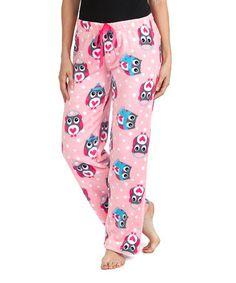 Look at this #zulilyfind! Pink Owl Pajama Pants - Women #zulilyfinds