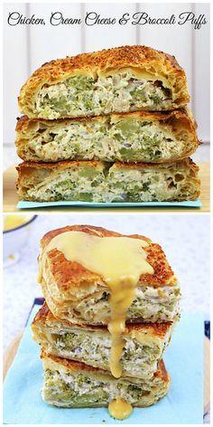 Chicken, Cream Cheese & Broccoli Puffs
