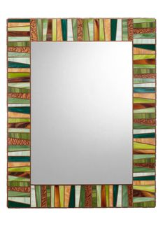 Green & Brown Stained Glass Mosaic Mirror by opusmosaics on Etsy https://www.etsy.com/listing/169425584/green-brown-stained-glass-mosaic-mirror