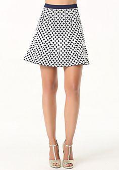 Jacquard Flared Skirt