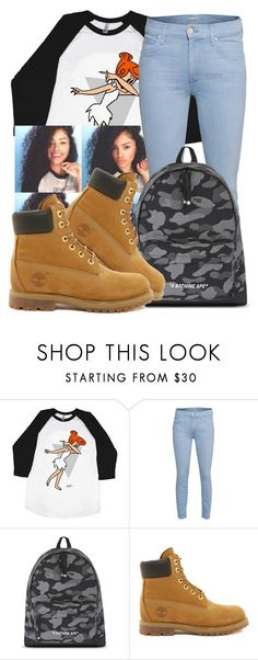 """""""Dabb On Em"""" by chynaloggins ❤ liked on Polyvore featuring Mother, A BATHING APE, Timberland, women's clothing, women's fashion, women, female, woman, misses and juniors"""