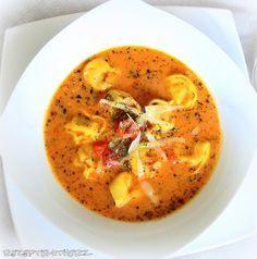 Rezepte mit Herz   ♥: Tortellini - Tomaten - Suppe