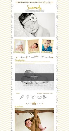Summerly ProPhoto Blog Customization Design complete with Premade logo. $85.00, via Etsy.