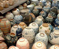 List of Japan antique fairs: http://www.e-yakimono.net/html/kanto-antiques.htm