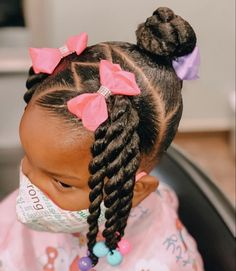 Little Girls Natural Hairstyles, Cute Toddler Hairstyles, Natural Hairstyles For Kids, Kids Braided Hairstyles, Princess Hairstyles, Natural Hair Styles, Hairstyles For Children, Lil Girl Hairstyles Braids, Black Baby Girl Hairstyles