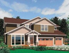 Craftsman Home Plan - 69050AM | 2nd Floor Master Suite, Bonus Room, CAD Available, Craftsman, Den-Office-Library-Study, Northwest, PDF | Architectural Designs
