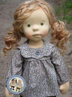 Marlena - natural fiber art doll by Lalinda.pl