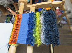 Creating my art on the loom. Steve Bailey