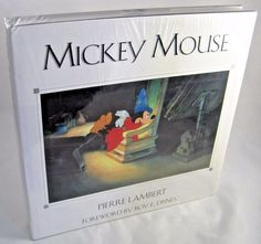 MICKEY MOUSE by Pierre Lambert 1st Edition Deluxe Disney Art Book STILL SEALED…