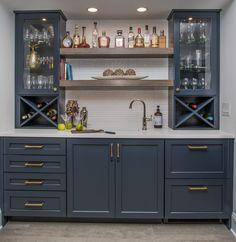 Wet Bar Designs, Basement Bar Designs, Home Bar Designs, Wet Bar Basement, Built In Bar Cabinet, Home Bar Cabinet, Home Bar Rooms, Home Bar Areas, Dinning Room Bar