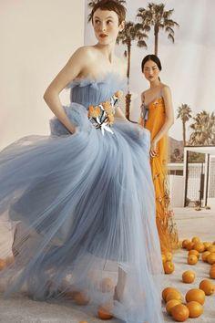 e7dbf0d79dda Carolina Herrera Resort 2019 floral appliqué tulle dress Plesové Šaty