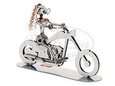 Lady auf Motorrad