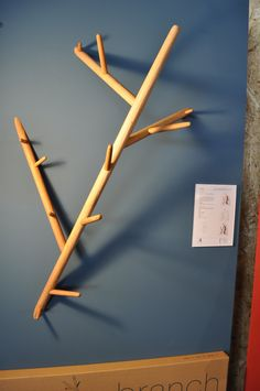 LUV the organic take on a coat rack. Could do a DIY interpretation of this.