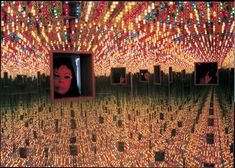 Yayoi Kusama Infinity Mirrored Room Love Forever 1966 remade 1994 Installation view  https://www.leddancefloor.info