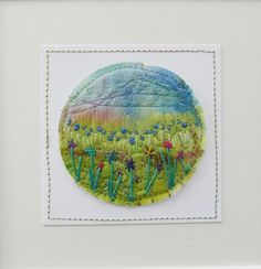 Country landscape, Original small art, hand made, textile art  £35.00