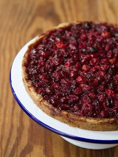Recipe: Cranberry Tart with Nut Crust