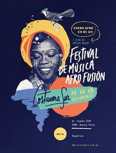 Festival de Música Afrofusion #print #poster #graphic #design #colors