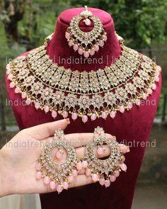 Antique Jewellery Designs, Fancy Jewellery, Stylish Jewelry, Fashion Jewelry, Diamond Jewellery, Bridal Jewellery Inspiration, Indian Bridal Jewelry Sets, Wedding Jewelry Sets, Jewelry Party