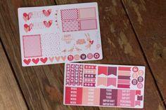 Valentine's Day Planner Sticker Sampler by BellaRosePaperCo #valentinesday #planneraddict #plannergoodies