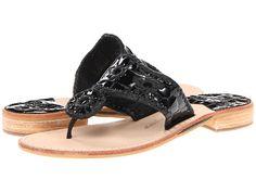 Jack Rogers Newport Flat Black - Zappos.com